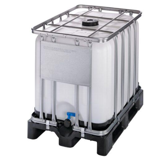 Cuba de almacenamiento homologada 600 litros con palet de PE 120 cm x 80 cm x 101,3 cm 1