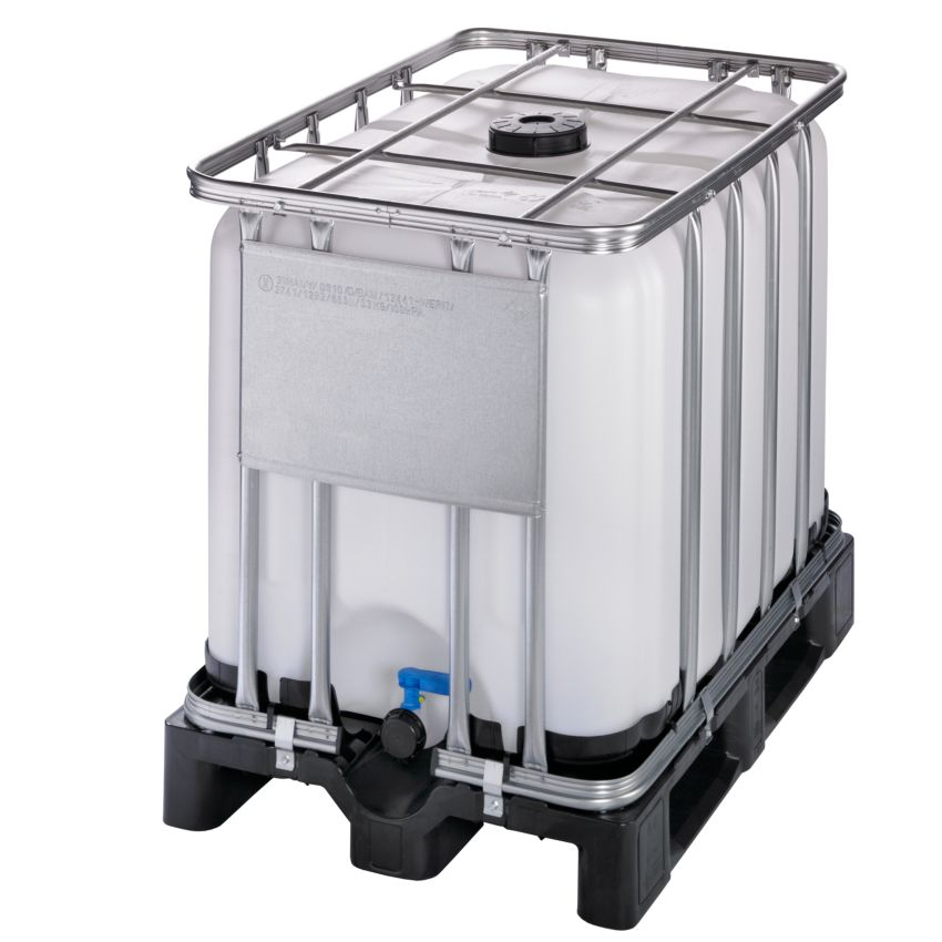 Contenedor IBC homologado 600 litros con palet de PE 120 cm x 80 cm ...