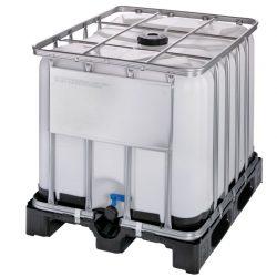 Cuba de almacenamiento homologada 800 litros con palet de PE 120 cm x 100 cm x 100 cm