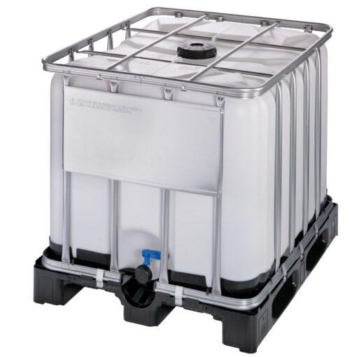 Cuba de almacenamiento homologada 800 litros con palet de PE 120 cm x 100 cm x 100 cm 1