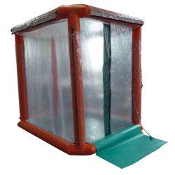 Ducha de descontaminación hinchable. Estructura hinchable monobloque. 180 cm x 230 cm x 230 cm