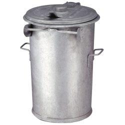 Papelera antifuego en acero galvanizado 110 L.