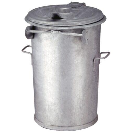 Papelera antifuego en acero galvanizado 110 L