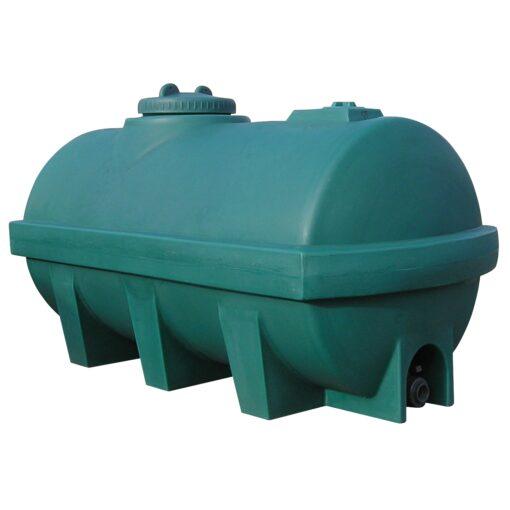 Tanque de agua de 1800L en polietileno, 110 cm x 65 cm x 83,5 cm