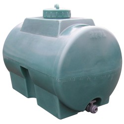 Cuba de almacenamiento de agua en polietileno, 270 L 100 cm x 60 cm x 78,5 cm