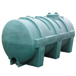 Depósito de agua de 2900L en polietileno, 260 cm x 132 cm x 142,5 cm