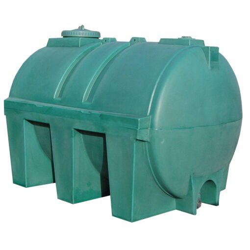Cuba de almacenamiento de agua en polietileno, 4000 L 240 cm x 165 cm x 175,5 cm 1