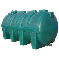 Depósito de agua de 5600L en polietileno, 340 cm x 166 cm x 172,5 cm