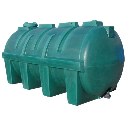 Cuba de almacenamiento de agua en polietileno, 5600 L 340 cm x 166 cm x 172,5 cm 1