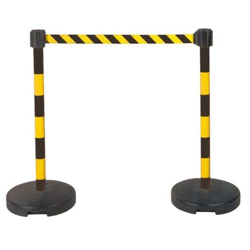 Kit 2 postes PVC con base y correa estirable 1