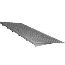 Rampa de acceso en acero galvanizado para plataforma de retención 285 cm x 50 cm x 7,8 cm