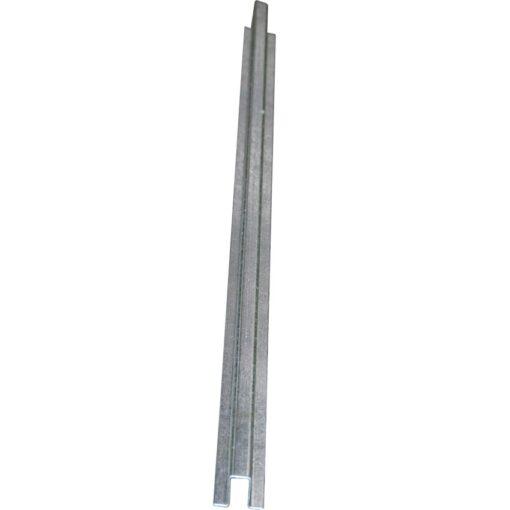 Rail de conexión en acero galvanizado para plataforma de retención 195 cm x 5,5 cm x 3 cm 1