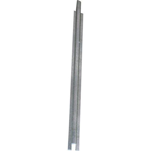 Rail de conexión en acero galvanizado para plataforma de retención 285 cm x 5,5 cm x 3 cm 1