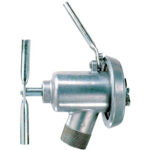 Válvula de trasiego y llenado de aluminio y acero para bidón 1
