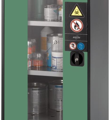 Armario bajo de seguridad para productos peligrosos 54,5 cm x 52 cm x 110,5 cm 1