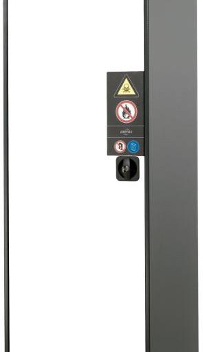 Armario alto de seguridad para productos peligrosos 54,5 cm x 52 cm x 195 cm 1