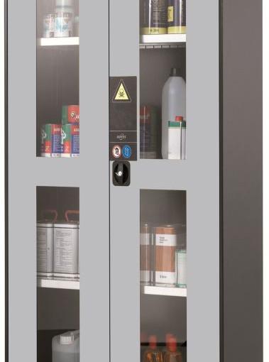 Armario alto de seguridad para productos peligrosos 81 cm x 52 cm x 195 cm 1