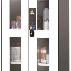Armario alto de seguridad para productos peligrosos 81 cm x 52 cm x 195 cm