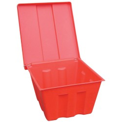 Cubeta para sal / arena de polietileno 100 L 75 cm x 68 cm x 42 cm