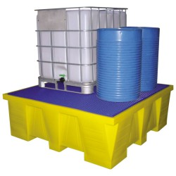 Cubeta de retención de polietileno 1 GRG/IBC, 1500 litros 183 cm x 183 cm x 64 cm