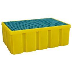 Cubeta de retención de polietileno con fondo plano para bidones y garrafas, 200 litros 99 cm x 64,5 cm x 34,5 cm