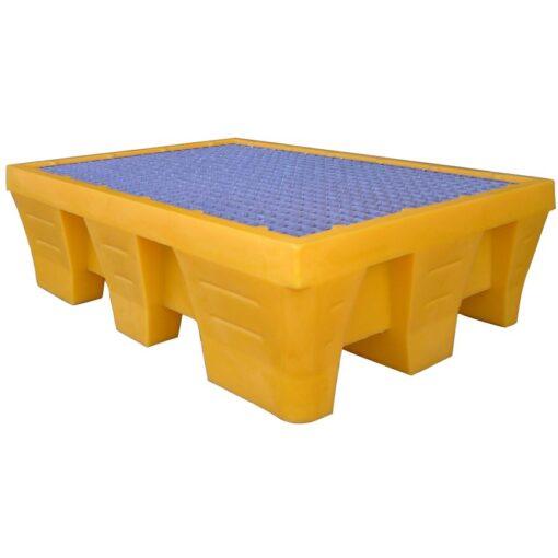 Cubeta de retención de polietileno 2 bidones, 240 litros 131 cm x 91 cm x 38 cm 1