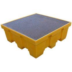 Cubeta de retención de polietileno 4 bidones, 450 litros 125 cm x 125 cm x 47,5 cm