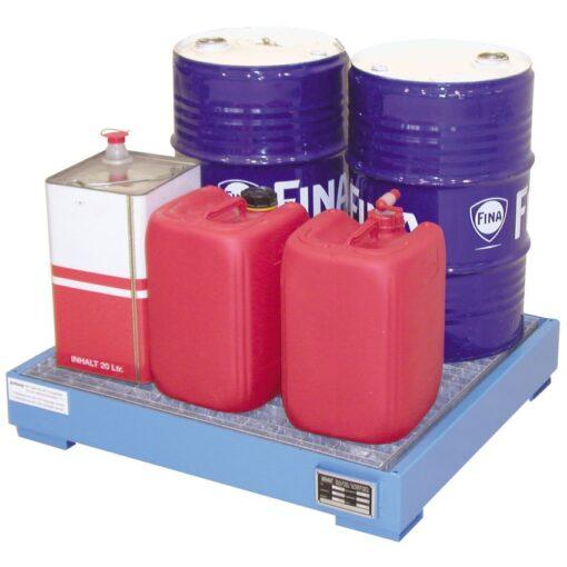 Cubeta de retención de acero barnizado 4 bidones, 81 litros
