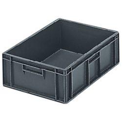 Cubeta apilable económica, 33 L, 60 cm x 40 cm x 17,5 cm