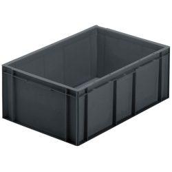 Cubeta apilable económica, 45 L, 60 cm x 40 cm x 23,5 cm