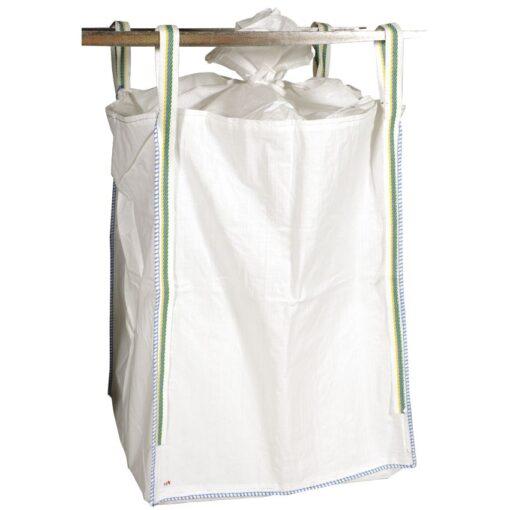 Lotes de 10 big bags con faldón de cierre  y fondo plano, de un solo uso