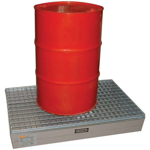 Cubeta de retención de poliéster para bidones, 150 litros 120 cm x 80 cm x 19 cm 1