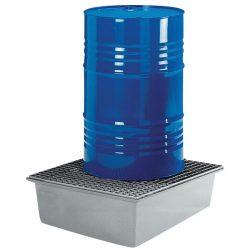 Cubeta de retención de poliéster 1 bidón, 210 litros 85 cm x 85 cm x 40 cm