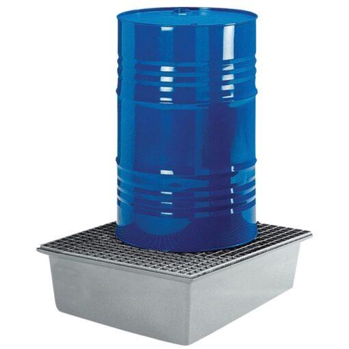 Cubeta de retención de poliéster 1 bidón, 210 litros 85 cm x 85 cm x 40 cm 1