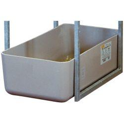 Cubeta de retención de poliéster para garrafas, 65 litros 82 cm x 41 cm x 23 cm