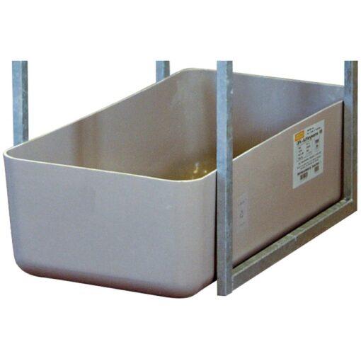 Cubeta de retención de poliéster para garrafas, 65 litros 82 cm x 41 cm x 23 cm 1