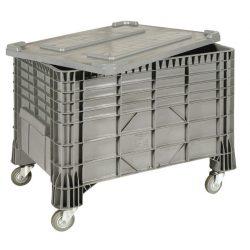 Caja palet con ruedas, 550 L, 120 cm x 80 cm x 80 cm