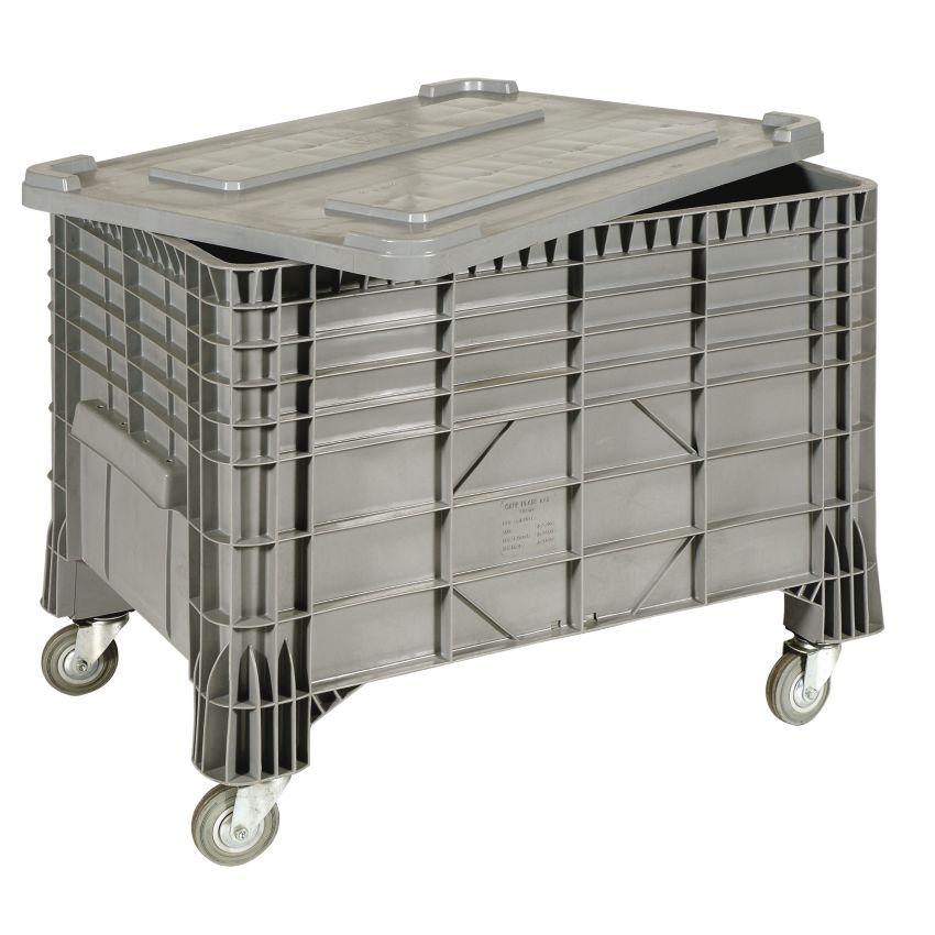 Caja palet con ruedas 550 l 120 cm x 80 cm x 80 cm hal co for Cajas plasticas con ruedas
