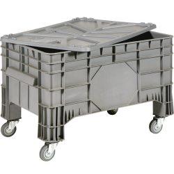 Caja palet con ruedas, 285 L, 104 cm x 64 cm x 67 cm