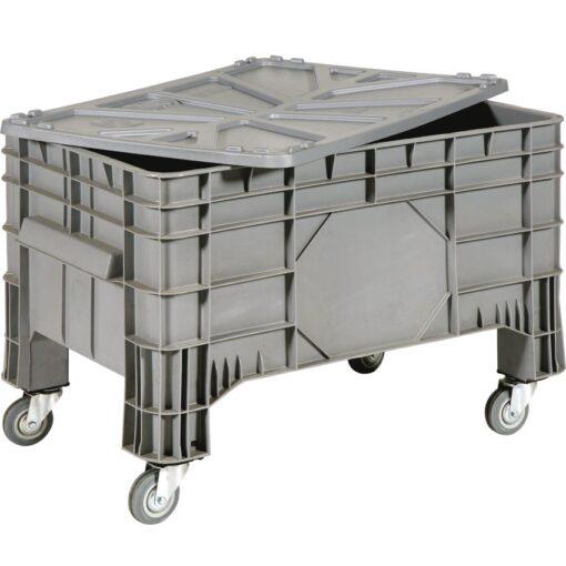 Caja palet con ruedas, 285 L, 104 cm x 64 cm x 67 cm 1