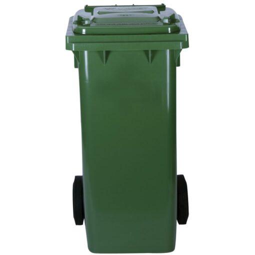 Contenedor de plástico de color Verde 2 ruedas, 120 L 55 cm x 48 cm x 93 cm 1