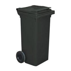 Contenedor de plástico de color Negro 2 ruedas, 90 L 55 cm x 48 cm x 86 cm