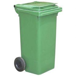 Contenedor de plástico de color Verde 2 ruedas, 90 L 55 cm x 48 cm x 86 cm
