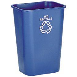 Papelera plástico flexible color Azul para recogida selectiva 39 L, 28 cm x 39 cm x 50,5 cm