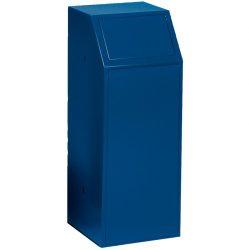Papelera metálica color Azul  económica para recogida selectiva 72 L, 40 cm x 40 cm x 100 cm