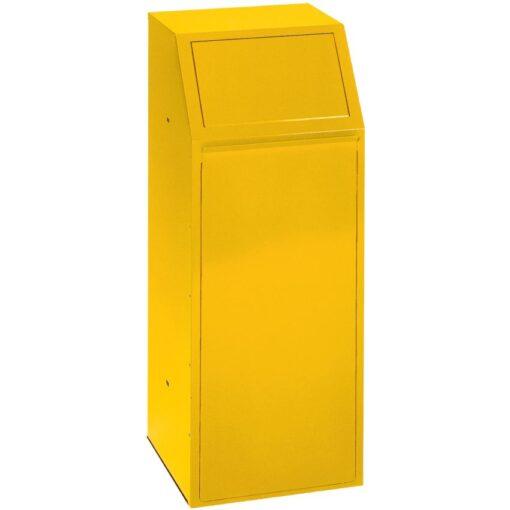 Papelera metálica color Amarillo económica para recogida selectiva 72 L, 40 cm x 40 cm x 100 cm 1