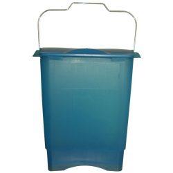Papelera de plástico color Azul translúcido para recogida selectiva 35 L, 31 cm x 45,3 cm x 50,6 cm