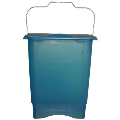 Papelera de plástico color Azul translúcido para recogida selectiva 35 L, 31 cm x 45,3 cm x 50,6 cm 1