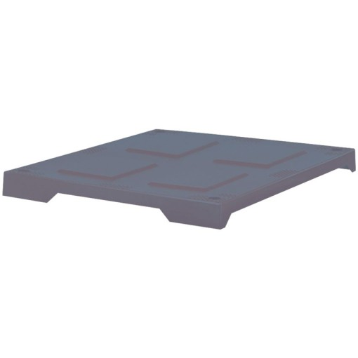 Tapa para caja palet 550 L, 122 cm x 82 cm x 4,5 cm 1