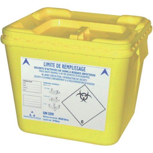 10 recipientes de plásticos para desechos biológicos 30 L 1